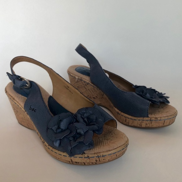 boc Shoes - b.o.c. Born Blue Wedge Floral Slingbacks